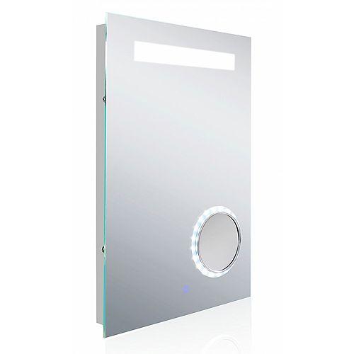 18 po Miroir rétroéclairé à LED W