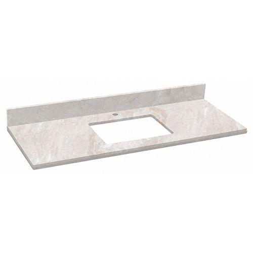 30.5 inch W Beige Stone Top