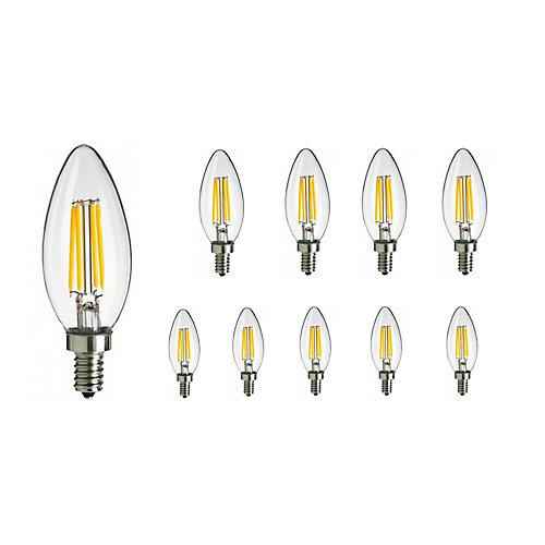 E12 Warm White 2700K LED 4.5W Light Bulb (Set of 10)