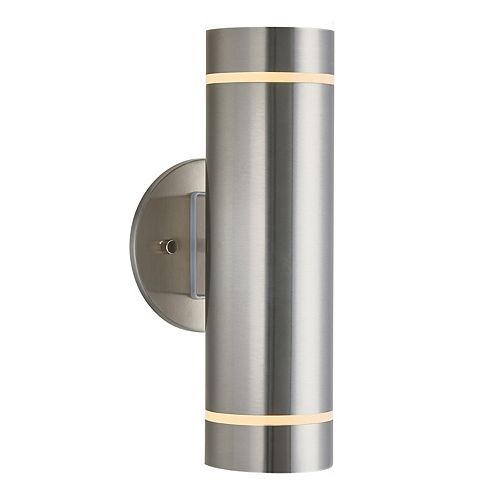 Medium C7 LED Integrated Wall Light in Stainless Steel