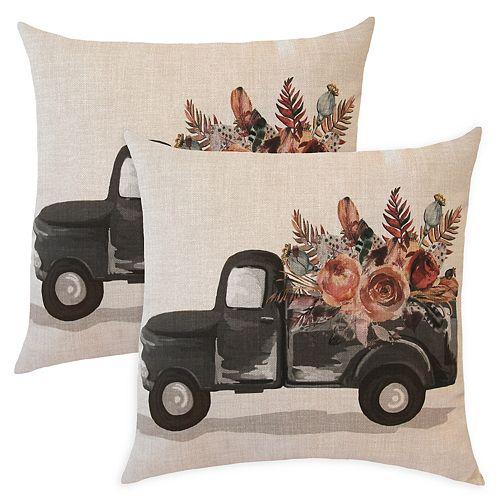 Camion d'automne pour oreiller, 2 pièces - 20 x 20 po
