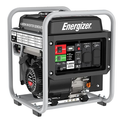 eZV4800 Portable Inverter Generator 4,800W Peak 3,600W Running, GFCI Outlets