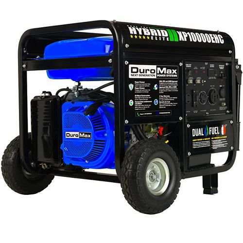 10,000 / 8,000 Watt Electric Start Dual Fuel Hybrid Portable Generator with Wheel Kit