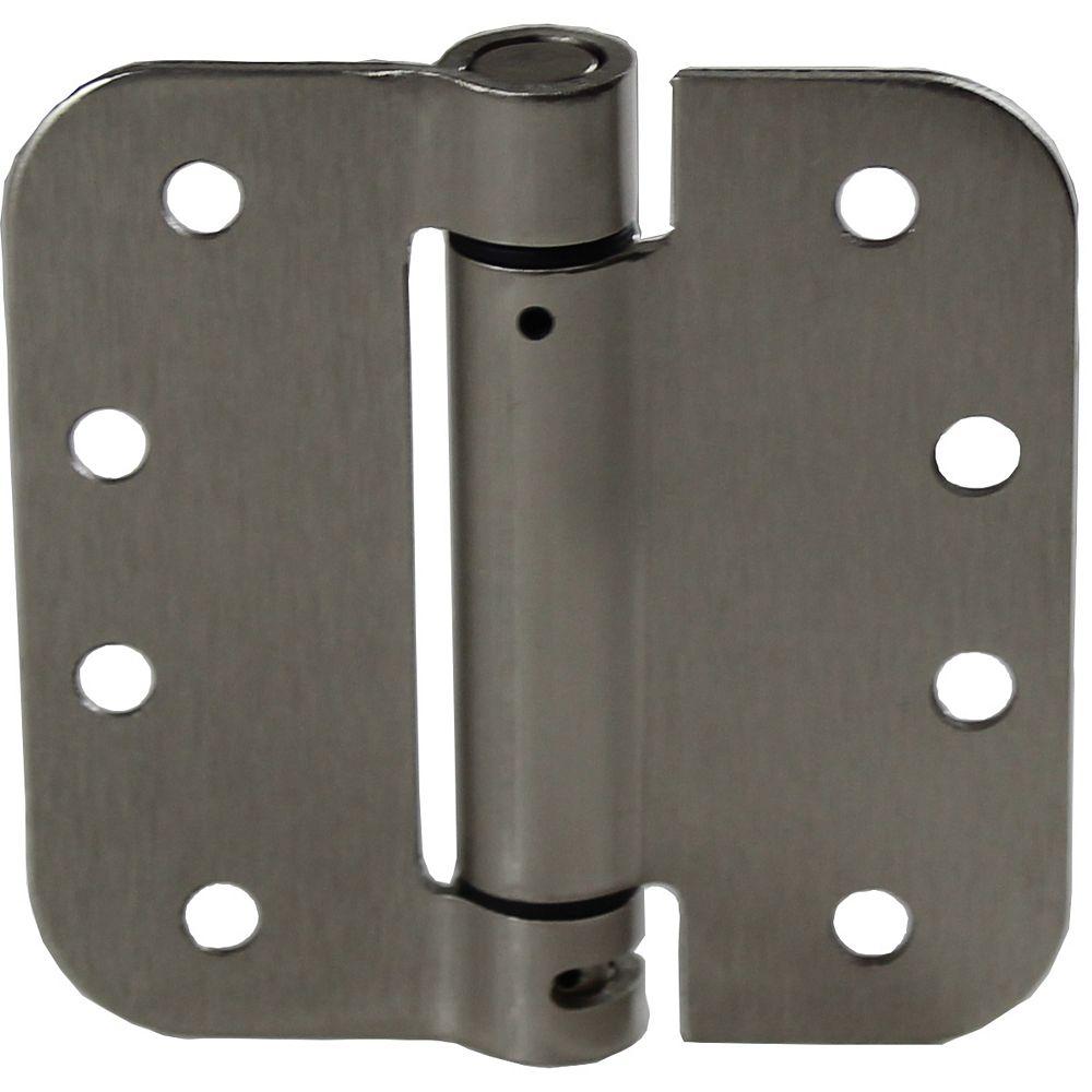 Onward (1-unité) Penture à ressort réglable de 4 po à mortaiser, Nickel brossé