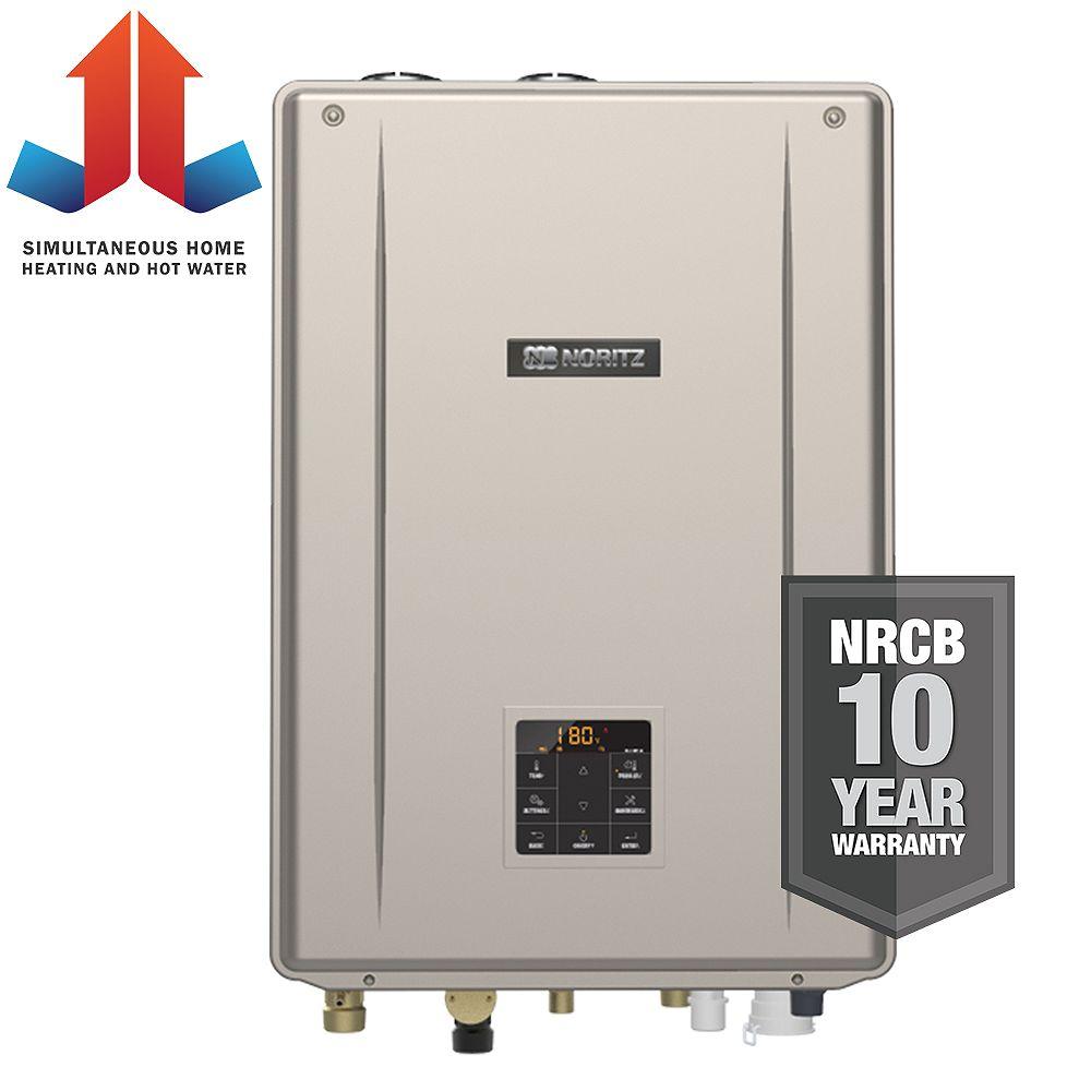 Noritz Indoor Residential Condensing Natural Gas Combination Boiler 180,000 BTUh Input