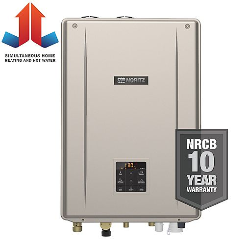 Indoor Residential Condensing Natural Gas Combination Boiler 180,000 BTUh Input