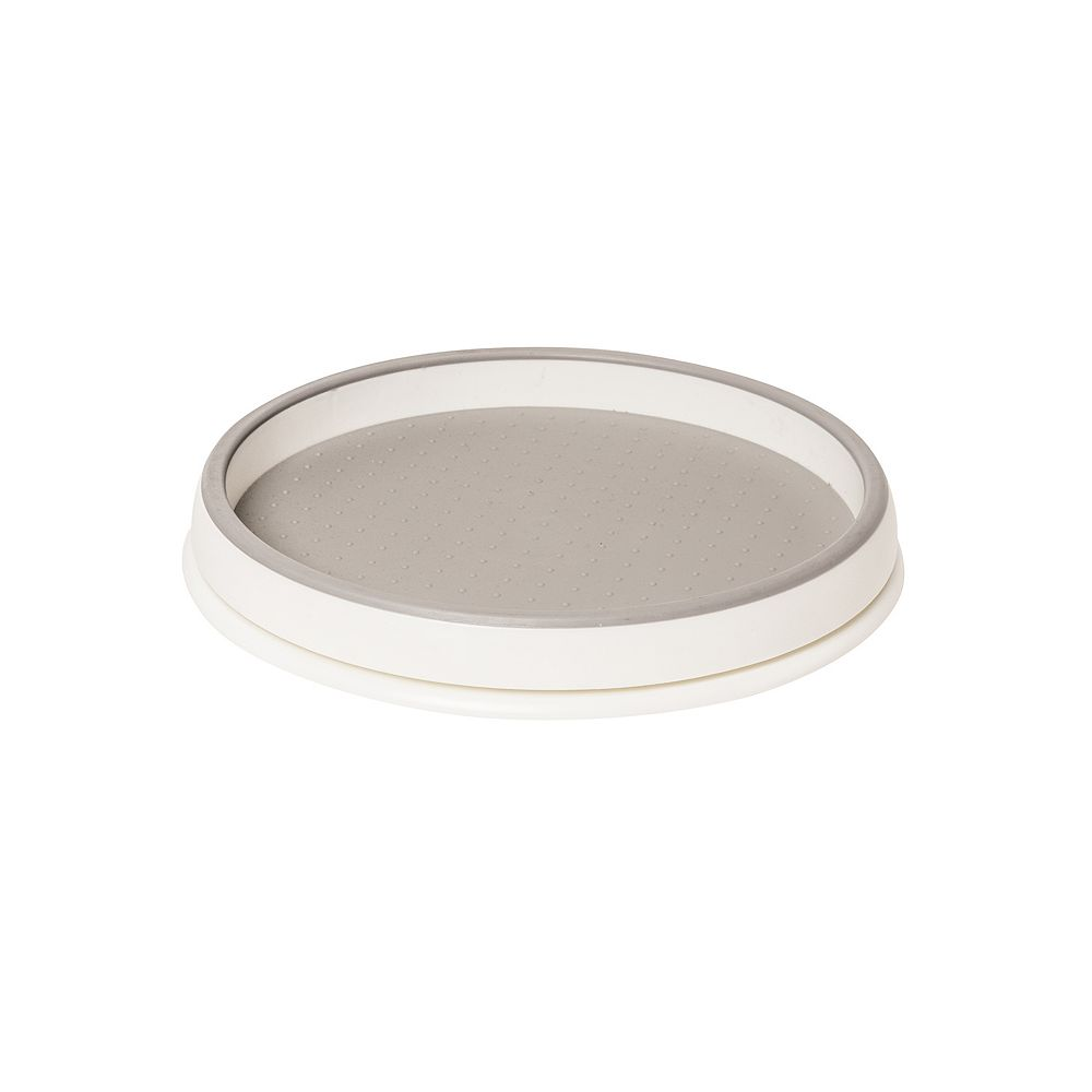 Real Solutions 10 inch White Lazy Susan Turntable