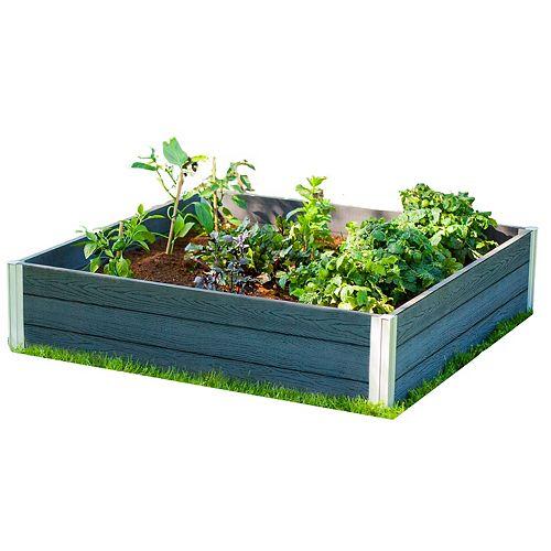 URBANA 4x4x11 Lit de Jardin Gris