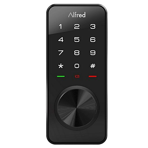 DB1-A Smart Door Lock Touchscreen Keypad Pin + Bluetooth + Key Entry in Black