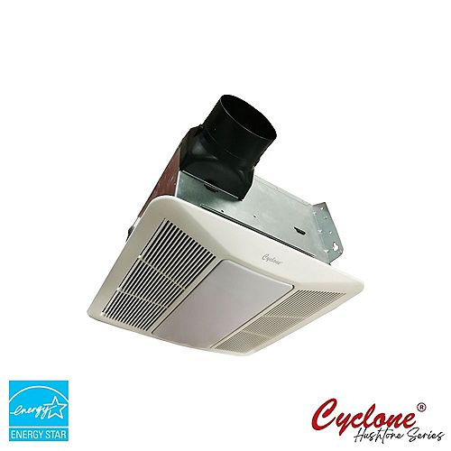 Cyclone HushTone Signature Series, 150 CFM Ceiling Bathroom Exhaust Fan 1.1 Sone with LED Light, ENERGY STAR*