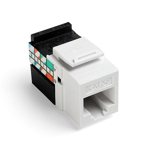 GigaMax 5e+ QuickPort Connector, CAT 5e, white