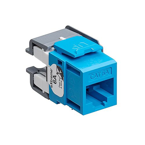 Leviton eXtreme 10G QuickPort Connector, CAT 6A, blue