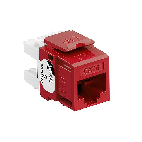 eXtreme 6+ QuickPort Connector, CAT 6, Red