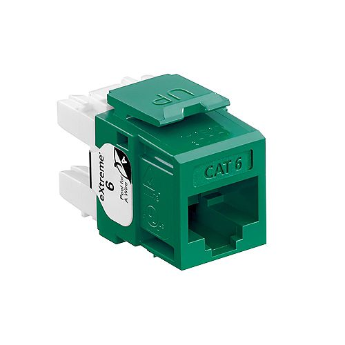eXtreme 6+ QuickPort Connector, CAT 6, Green