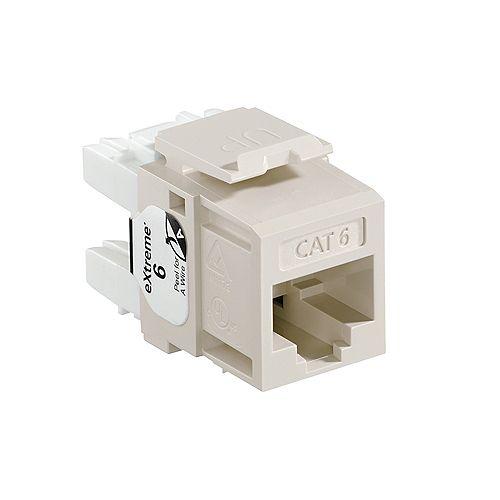 eXtreme 6+ QuickPort Connector - Modular insert - RJ-45 - light almond