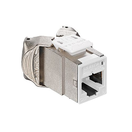 Atlas-X1 Cat 6 Shielded QuickPort Connector, White