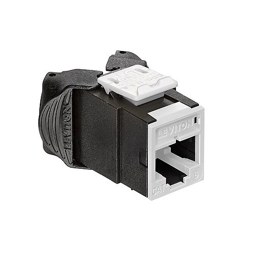 Leviton Atlas-X1 Cat 6 UTP QuickPort Connector, White