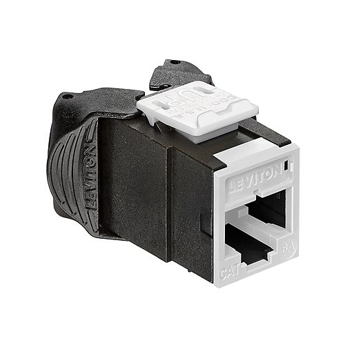 Leviton Atlas-X1 Cat 6A UTP QuickPort Connector, White