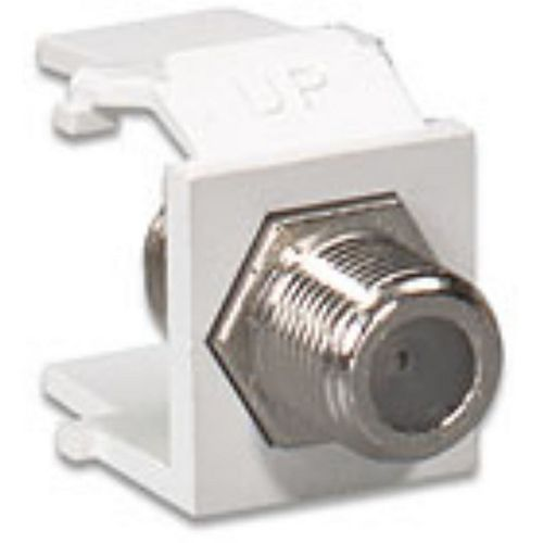 QuickPort F-Type Adapter, Nickel-Plated, White