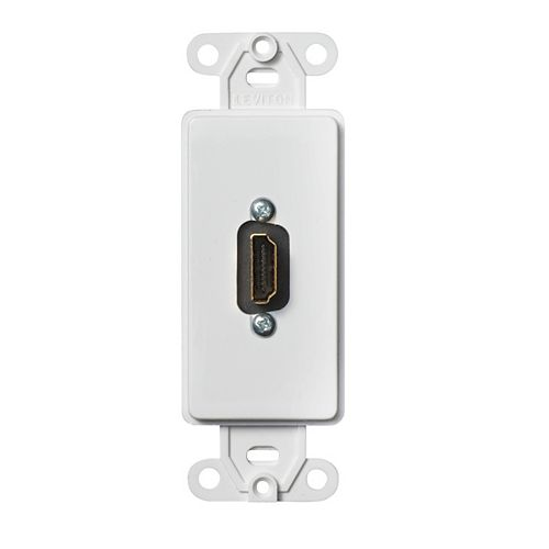 Decora Insert with HDMI Feedthrough Connector, Single Gang, White