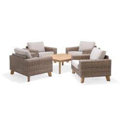 SCANCOM Bahamas 5-Piece Club Chair Set