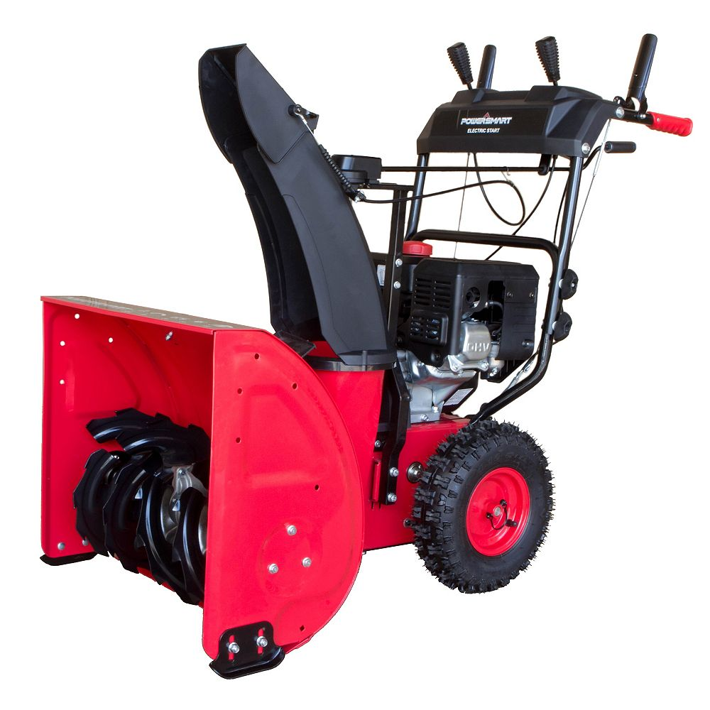 PowerSmart 24-inch 212 cc Two-Stage Electric Start Gas Snow Blower DB7624E6O