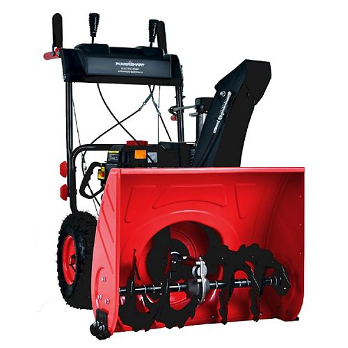 PowerSmart 24-inch 212cc 2-Stage Gas Powered Electric Start Snow Blower