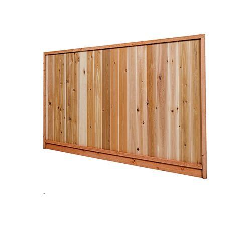 AIM Cedar Works 6x8 Premium Western Red Cedar Heavy-Duty Solid Fence Panel (Size:67-1/2 in. H x 96 in. W)