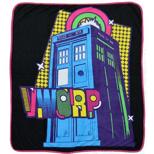 Jeté Dr Who Mr. Rainbow 127 cmx152 cm en Multi
