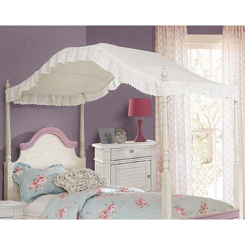 Canopé pour lit Jumeau en Blanc
