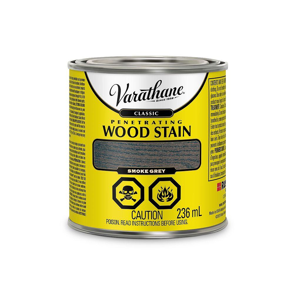 Varathane Teinture à bois classique pénétrante à base d'huile à l'érable Gris Fumée, 236 mL