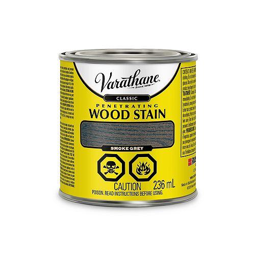 Teinture à bois classique pénétrante à base d'huile à l'érable Gris Fumée, 236 mL