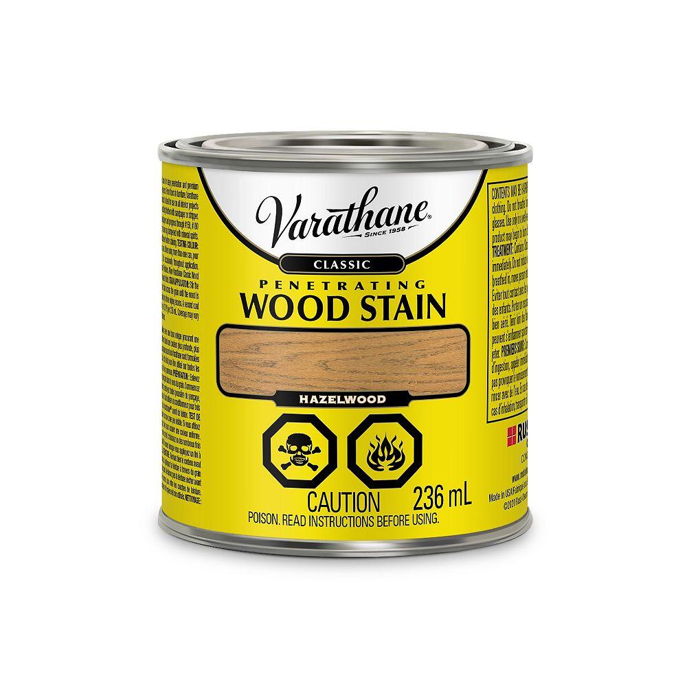 Varathane Teinture à bois classique pénétrante à base d'huile à l'érable Poudre de Noisette, 236mL