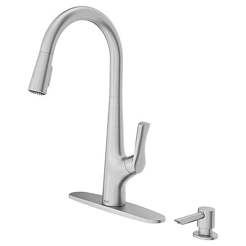 Copley 1-Handle Pulldown Kitchen Faucet in Stainless Steel