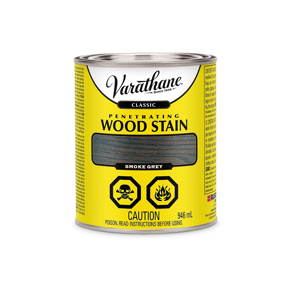 Varathane Classic Penetrating Oil-Based Wood Stain in Smoke Grey, 946mL