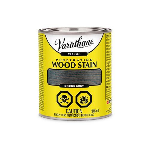 Teinture à bois classique pénétrante à base d'huile à l'érable Gris Fumée, 946 mL