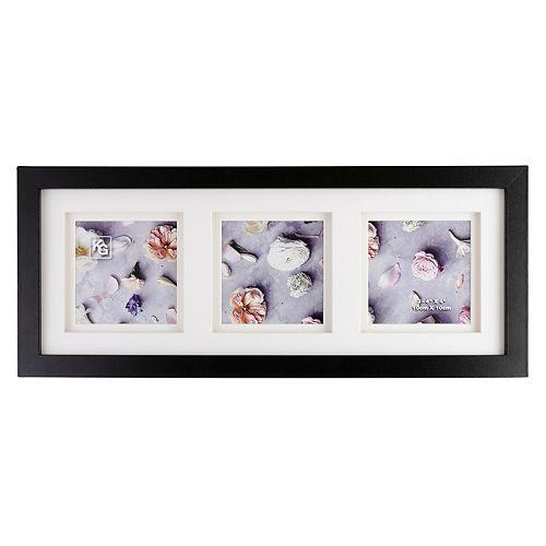 Cadre Morgan de type galerie de KG avec passe-partout double, 7,62 x 16,76 cm (3 x 6,6 po)