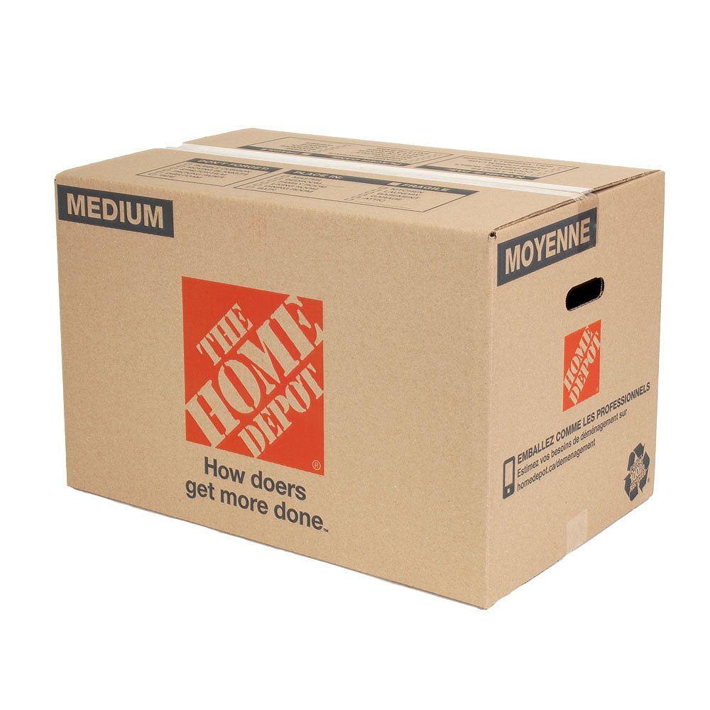The Home Depot Boîte de déménagement moyenne (23 pouces de long x 15 pouces de large x 15 pouces de profondeur)