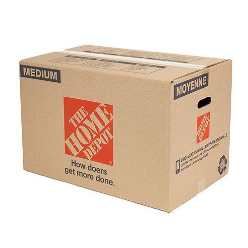 Carton de déménagement moyen, 58,42 x 38,1 x 38,1 cm