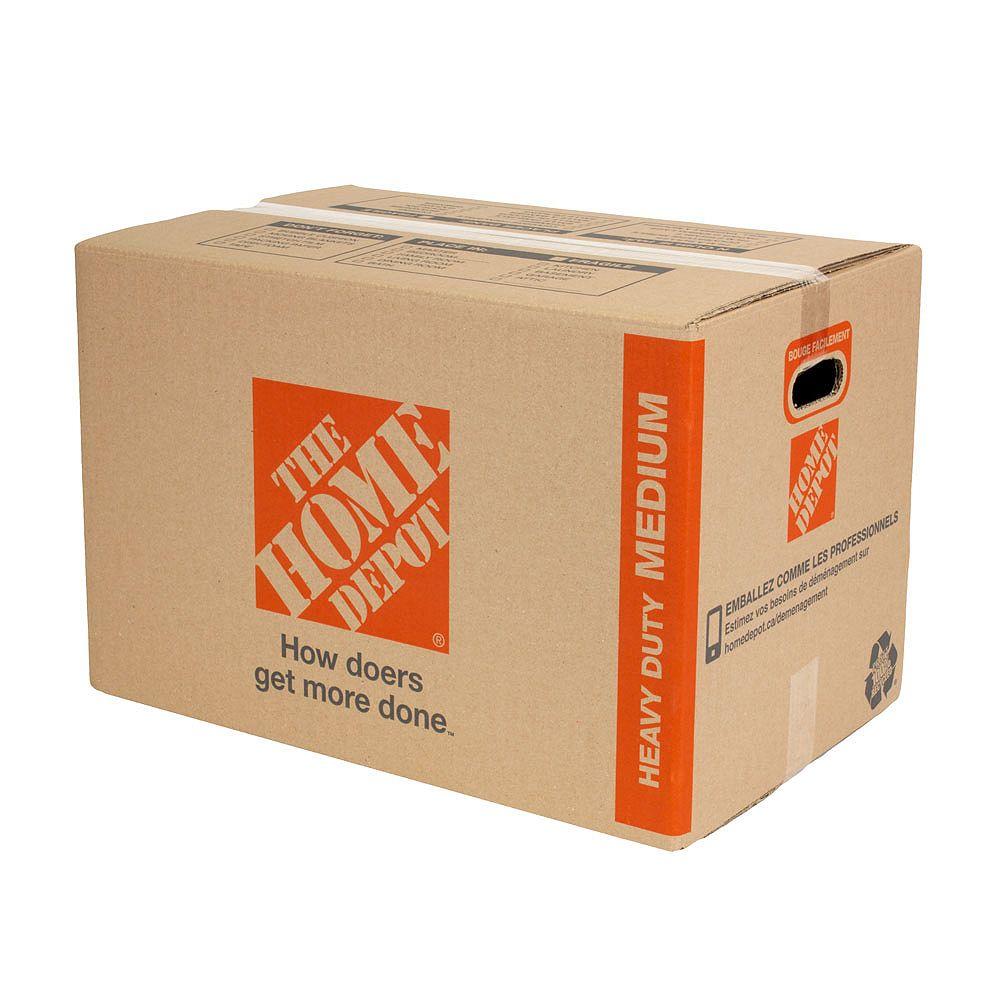 The Home Depot Boîte de déménagement moyenne robuste (23 pouces de long x 15 pouces de large x 15 pouces de profondeur)