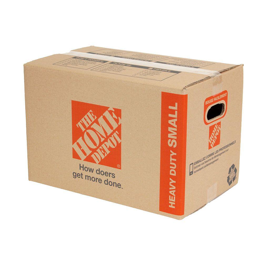 The Home Depot Petite boîte de déménagement résistante (18 pouces de long x 11 pouces de large x 12 pouces de profondeur)