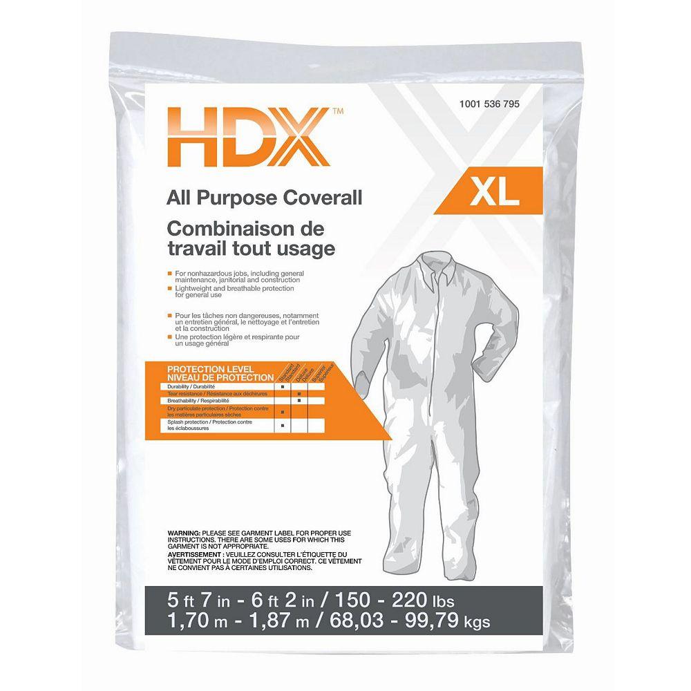 HDX Combinaison Tout Usage HDX de Grandeur XL
