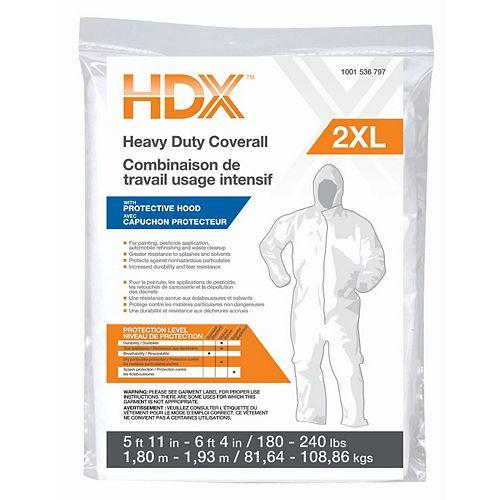 HDX Heavy Duty Coverall w Hood 2XL
