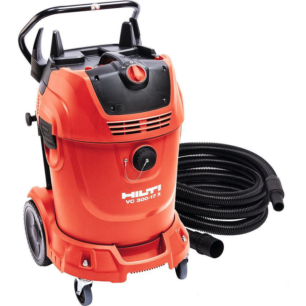 Hilti 16 ft. Hose and 300 CFM VC 300-17X Universal 17 Gal. Wet Dry Vacuum Cleaner with Auto Filter Cleaner