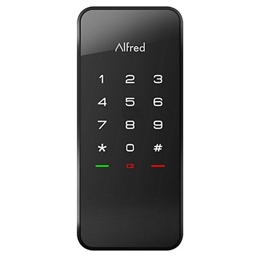 DB1-C Smart Door Lock Touchscreen Keypad Pin + Bluetooth + Z-Wave in Black