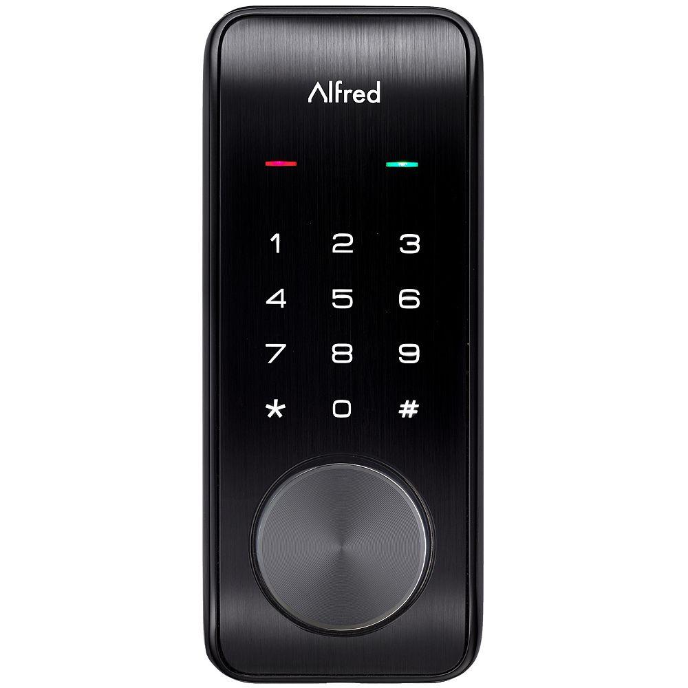 Alfred DB2-B Serrure Intelligente à écran Tactile Broche du Clavier + Bluetooth + Entrée Clé Noir