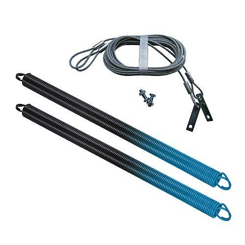 IDEAL 90 lbs (bleu clair) Ressorts pour Porte de Garage avec Câbles de Sécurité (Paquet de 2)
