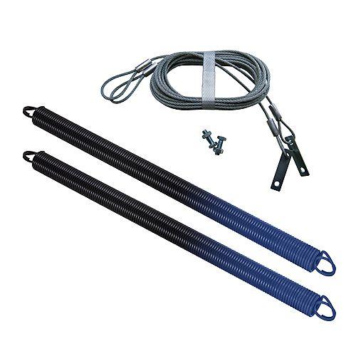 Ressorts pour porte de garage, 140 lbs (Bleu) Paquet de 2 avec câbles de sécurité