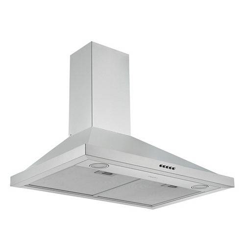 Ancona 30 in. 280 CFM Convertible Wall Mount Pyramid Range Hood in Stainless Steel
