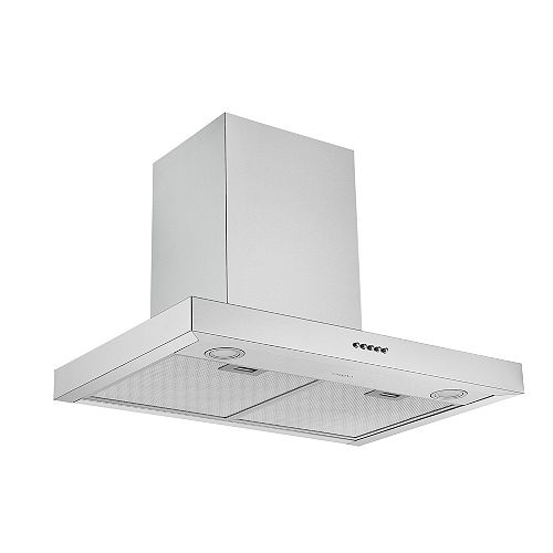 Ancona 30 in. 440 CFM Convertible Wall Mount Rectangular Range Hood in Stainless Steel